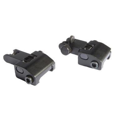 FRONT & REAR LEVEL SPRING LOADED METAL FLIP UP SIGHT SET