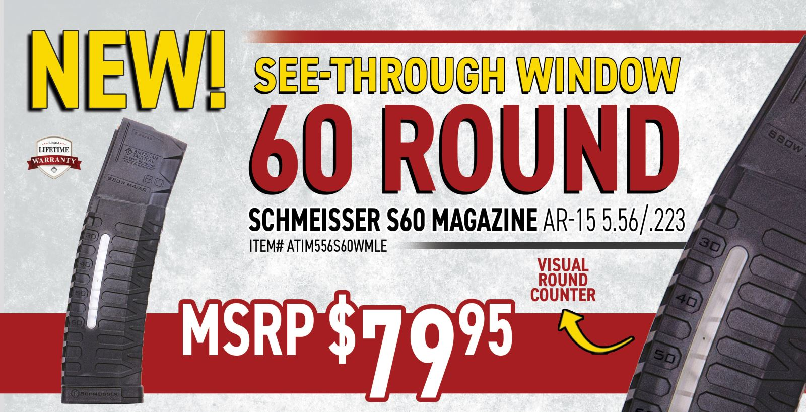SCHMEISSER S60 WINDOW MAGAZINE